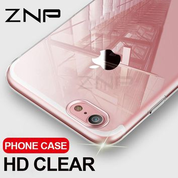 Ultra Thin Soft Transparent TPU Case For iPhone 8 7 Plus Clear Silicone Full Cover For iPhone 7 Plus 8 Phone Case