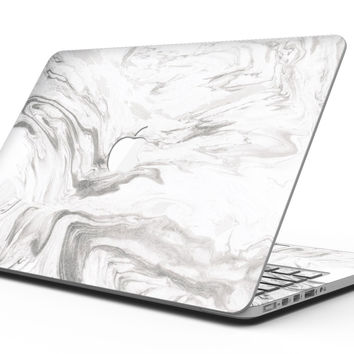 Mixtured Gray 47 Textured Marble - MacBook Pro with Retina Display Full-Coverage Skin Kit