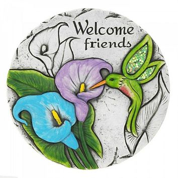 6 Welcome Friends Hummingbird Stepping Stones
