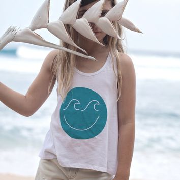 Girl's Wave Face Tank