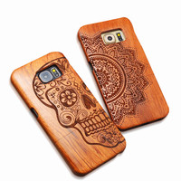 Original Natural Wooden Bamboo Phone Case For Samsung GALAXY S5 S6 Edge S7 PLUS NOTE 5 For Apple Iphone 6 6S PLUS 5 5S SE