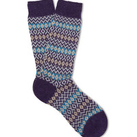Pantherella Bamburgh Fair Isle Cashmere-Blend Socks | MR PORTER