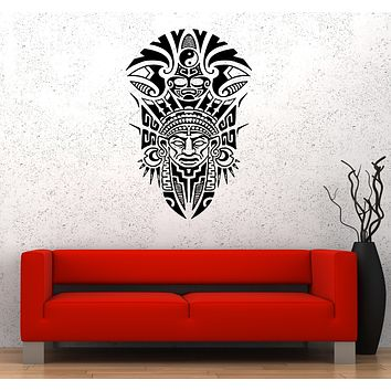 Wall Decal Native American Antiquity History Symbols Yin Yang National Vinyl Sticker (ed1697)