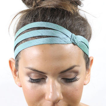 Light blue silk headband
