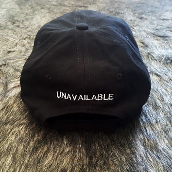 unavailable back Black Baseball Hat