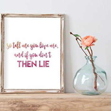 True Love Coldplay Lyrics Watercolor Print | Wall Decor