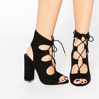 New Look Ghillie Block Heeled Sandals