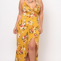 Plus Size Vanisha Cami Dress - Mustard
