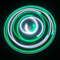 "36"" - 10 Solid Color LED Hula Hoop - Green Goddess"