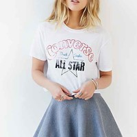 Converse Vintage-Inspired Cropped Tee- White