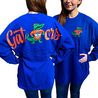 Florida Gators Women's Logo Sweeper Long Sleeve Oversized Top Shirt