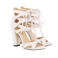 Lace Up High Heel Sandals 11 Colors