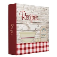 """Country Baking Recipe Binder (2"""") from Zazzle.com"""
