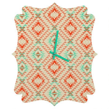 Pattern State Tile Tribe Southwest Quatrefoil Clock