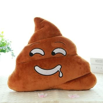 Mini Saliva Emoji Emoticon Cushion Poo Shape Pillow Doll Toy Throw Pillow