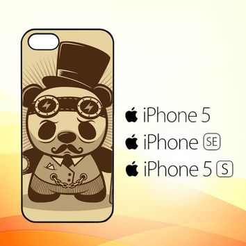 Steampunk Panda Y1734  iPhone 5|5S|SE Case