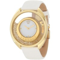 "Versace Women's 86Q70D002 S001 ""Destiny Spirit"" Gold PVD Watch with Leather Band"