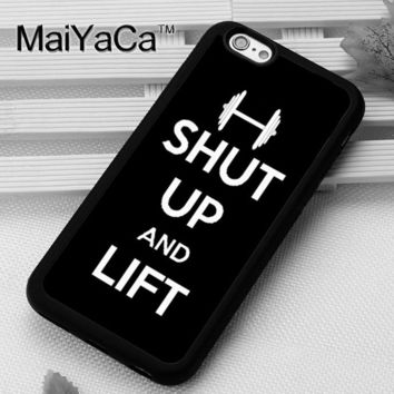 MaiYaCa Cute Fitness Case Cute Funny Lift Gym Phone Case for iPhone 6 6s Capa Fundas Case For iphone 6s Back Shell Cover
