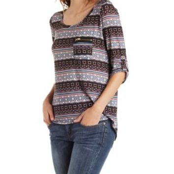 Combo Aztec Hacci Top by Charlotte Russe