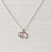 Sterling Silver Elephant Necklace, Silver Elephant Necklace, Elephant necklace, Baby elephant Necklace, Elephant Jewelry, Children Necklace