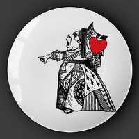 Queen Of Hearts Alice In Wonderland Plate