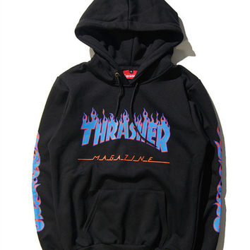 thrasher unisex pullover alphabet print from simpleclothesv. Black Bedroom Furniture Sets. Home Design Ideas