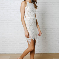 Olivia Lace Halter Dress