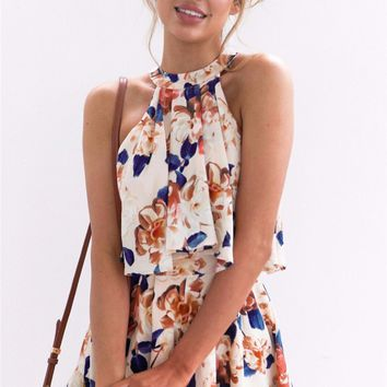 Floral Halter Playsuit