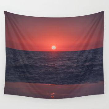 Restless Sunset Wall Tapestry by Faded  Photos