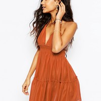 ASOS Tiered Halter Neck Beach Dress