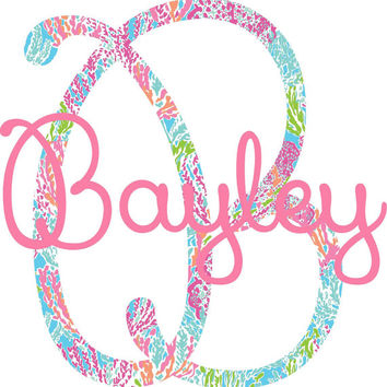 Lilly Pulitzer Monogram Wall Decal