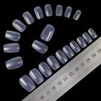 Transparent Fake Nail Tips 100pcs/box Full Cover Nails Acrylic Artificial False Nail Beauty Women Fingers WY409