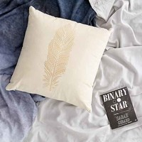 Plum & Bow Field Feather Graphic Pillow