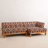 Anthropologie - Ogee Ikat Sectional Sofa