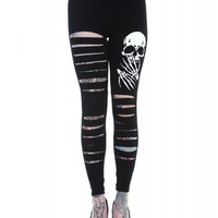 Banned UK Skeleton Slash Leggings :: VampireFreaks Store :: Gothic Clothing, Cyber-goth, punk, metal, alternative, rave, freak fashions