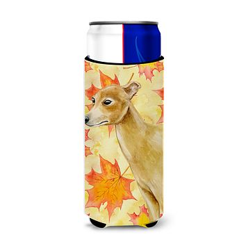 Italian Greyhound Fall Michelob Ultra Hugger for slim cans BB9959MUK