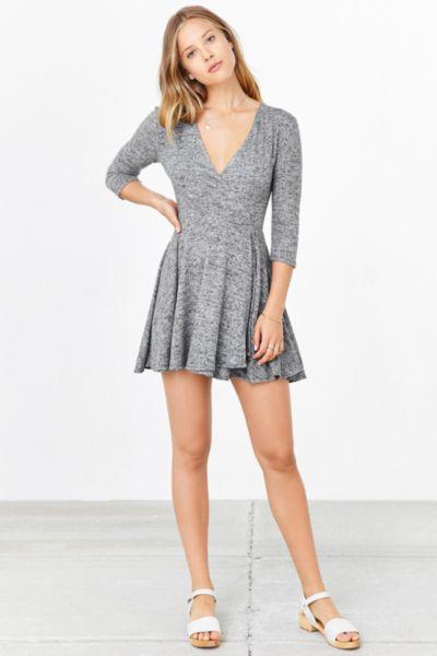 290e1b0299d34 Kimchi Blue Cozy Ballet Wrap Dress from Urban Outfitters