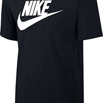 DCCK8BW Nike Mens Futura Icon T-Shirt Black/White 624314-015 Size Large