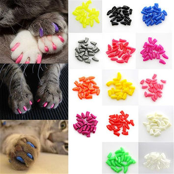 20Pcs/Lot Paw Claws Control Nail Caps Colorful and Soft