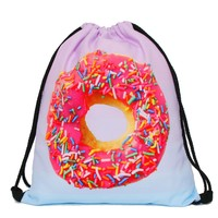 Printed Drawstring Gym Backpack