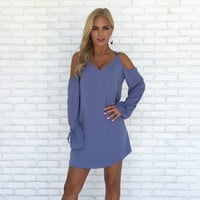 Joy Shift Dress in Blue