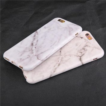 Fashion Marble Soft Tpu Skin Shell For iPhone SE Case For iphone 6 6s plus 7 7 plus Stylish Cute Unique Stone Phone Cases Cover