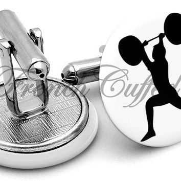 Weight Lifting Cufflinks