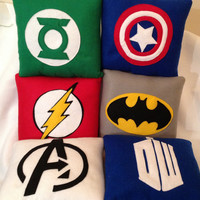 10 inch x 10 inch Superhero cushion .Pick your design:Avengers, Batman, Superman, Captain America,Green Lantern, Spiderman, Flash