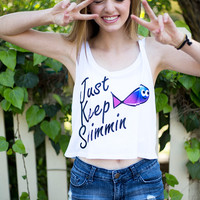 Keep Swim Crop Top
