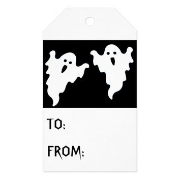 SPOOKY GHOSTS HALLOWEEN GIFT TAGS