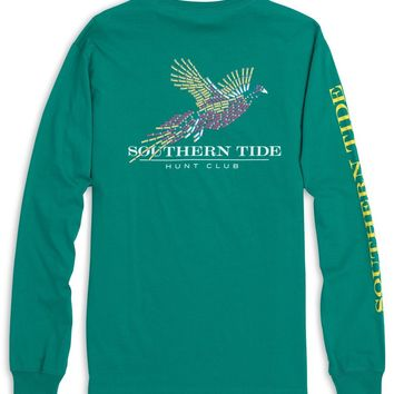 Southern Tide, Hunt Club Long Sleeve T Shirt, Bluegrass