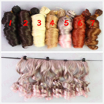 Updated 5Pcs/lot Fashion BJD SD DIY Wigs Hair High-temperature Wire Handmade Curly Doll