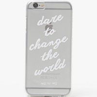 Me To We Dare To Change iPhone 6/6sCase - Womens Scarves - White - One