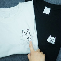 CAT POCKET T-SHIRT